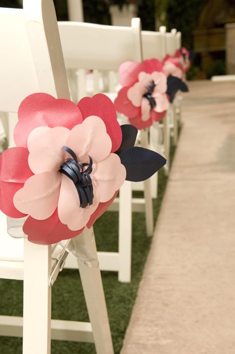 Aisle Flower Chair Decorations