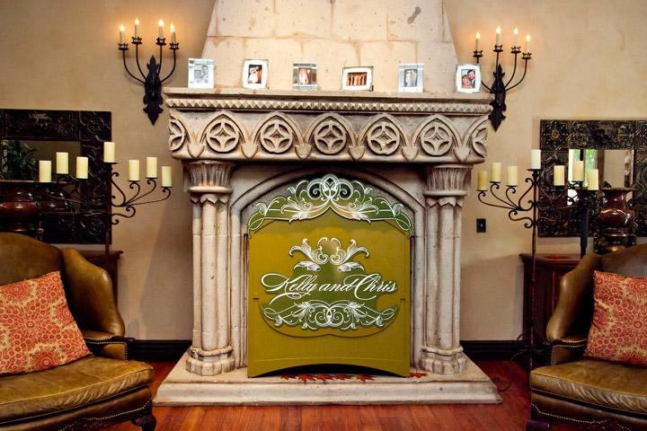 Fireplace Monogram Cover