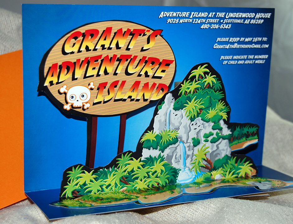 Adventure Land Popup Card