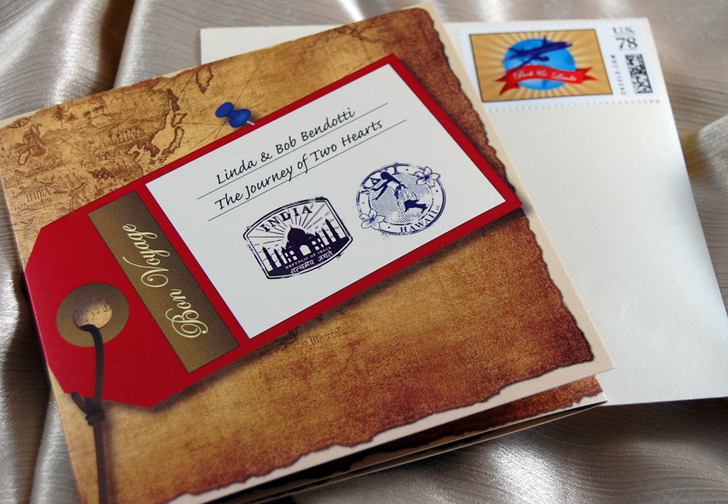 Travelers Booklet Wedding Invitation