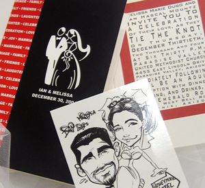 Caricature Couple Wedding Invitation