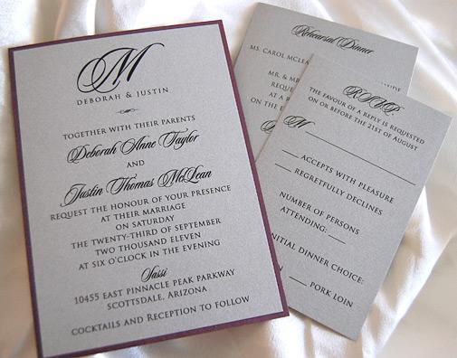 Initial Monogram Wedding Invitation