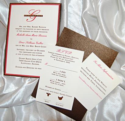 Layered Monogram Wedding Invitation Suite