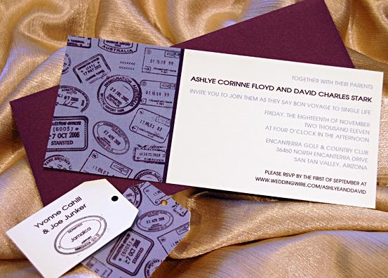 Passport Stamps Wedding Invites