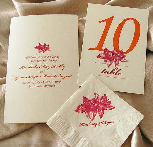 Pink and Orange Flower Wedding Reception