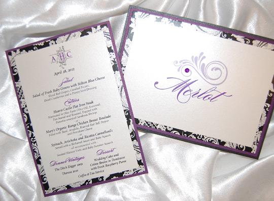 Filigree Monogram Wedding Reception