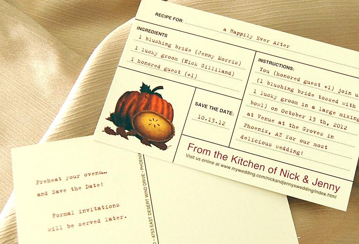 Recipe Book Save the Date Postcard