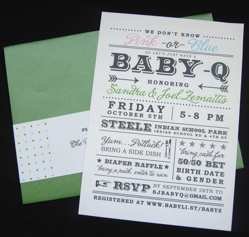 Modern Baby Q Baby Shower Invitation