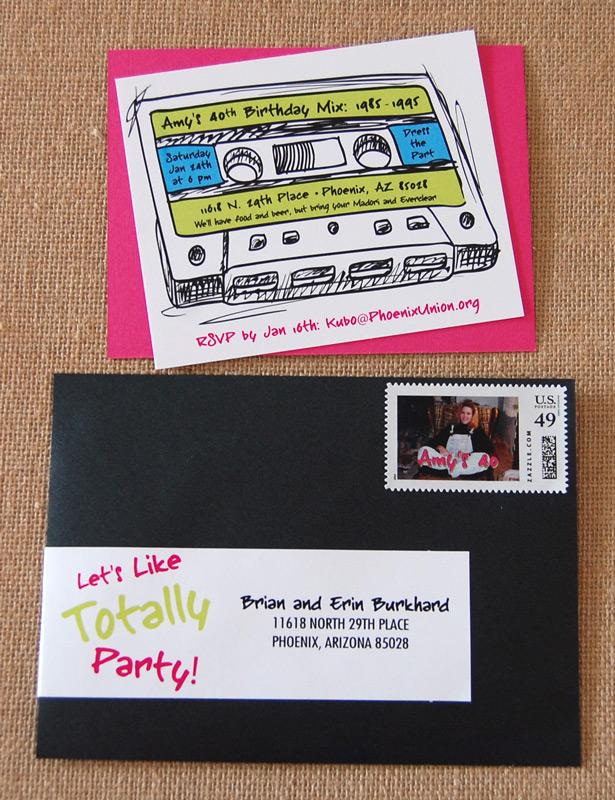 80's Mixed Tape Birthday Party Invitations