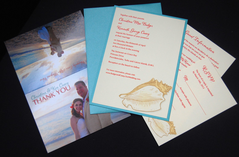 Beach Photo Thank You Card and Invitation