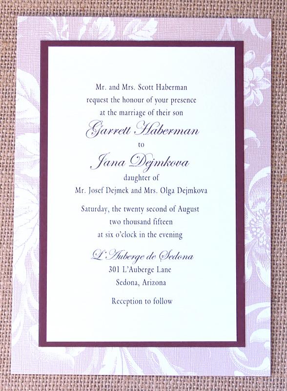 Floral Pattern Layered Wedding Invitation