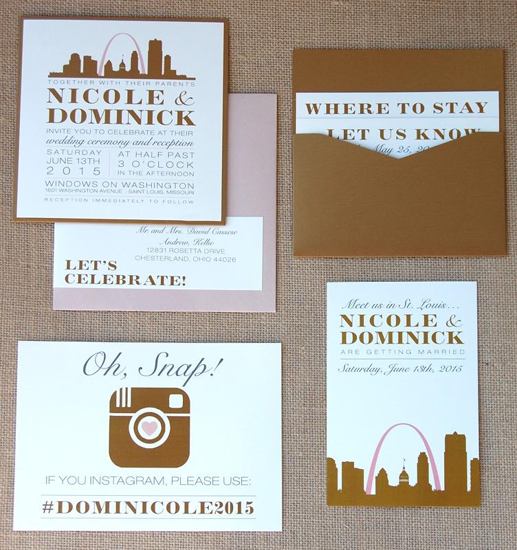 St. Louis Cityscape Pocketcard Invitation