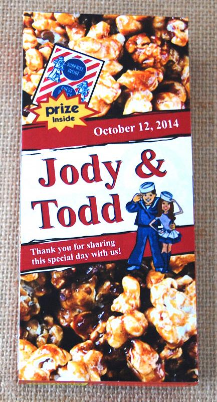 Cracker Jacks Thank You Wedding Favors